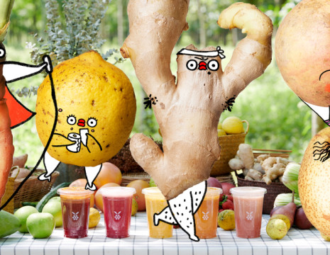 7ugly fruit flabjacks x hunter gatherer artist collaboration sketch campaign - Shanghai China by Ton_Mak